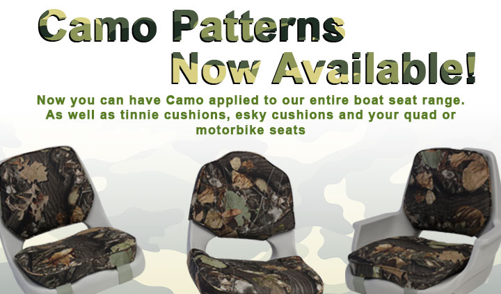 Rea-Line now has camo available across entire boat seat range